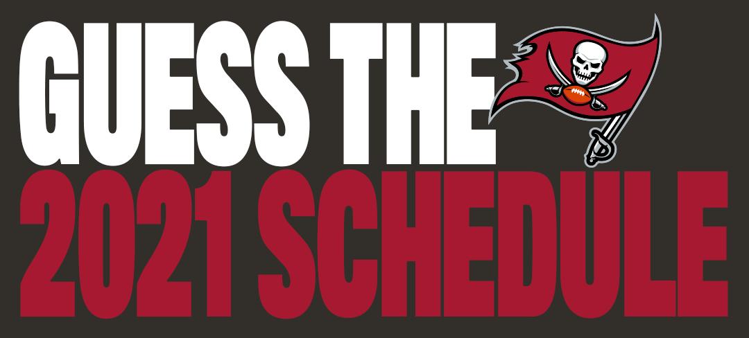 guess the bucs 2021 schedule