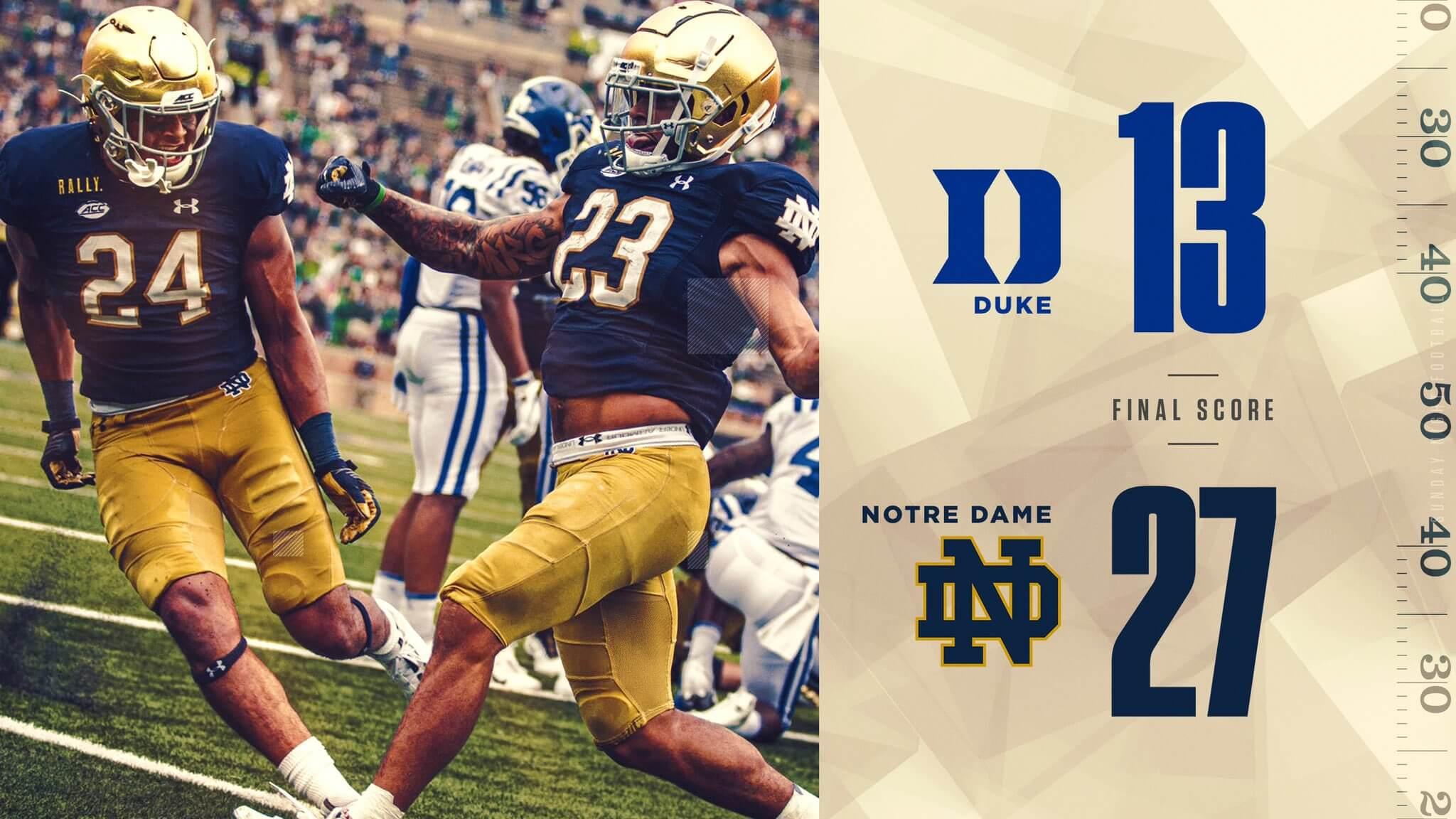 Fighting Irish Live Duke Vs 10 Notre Dame Notre Dame Fighting Irish Official Athletics Website