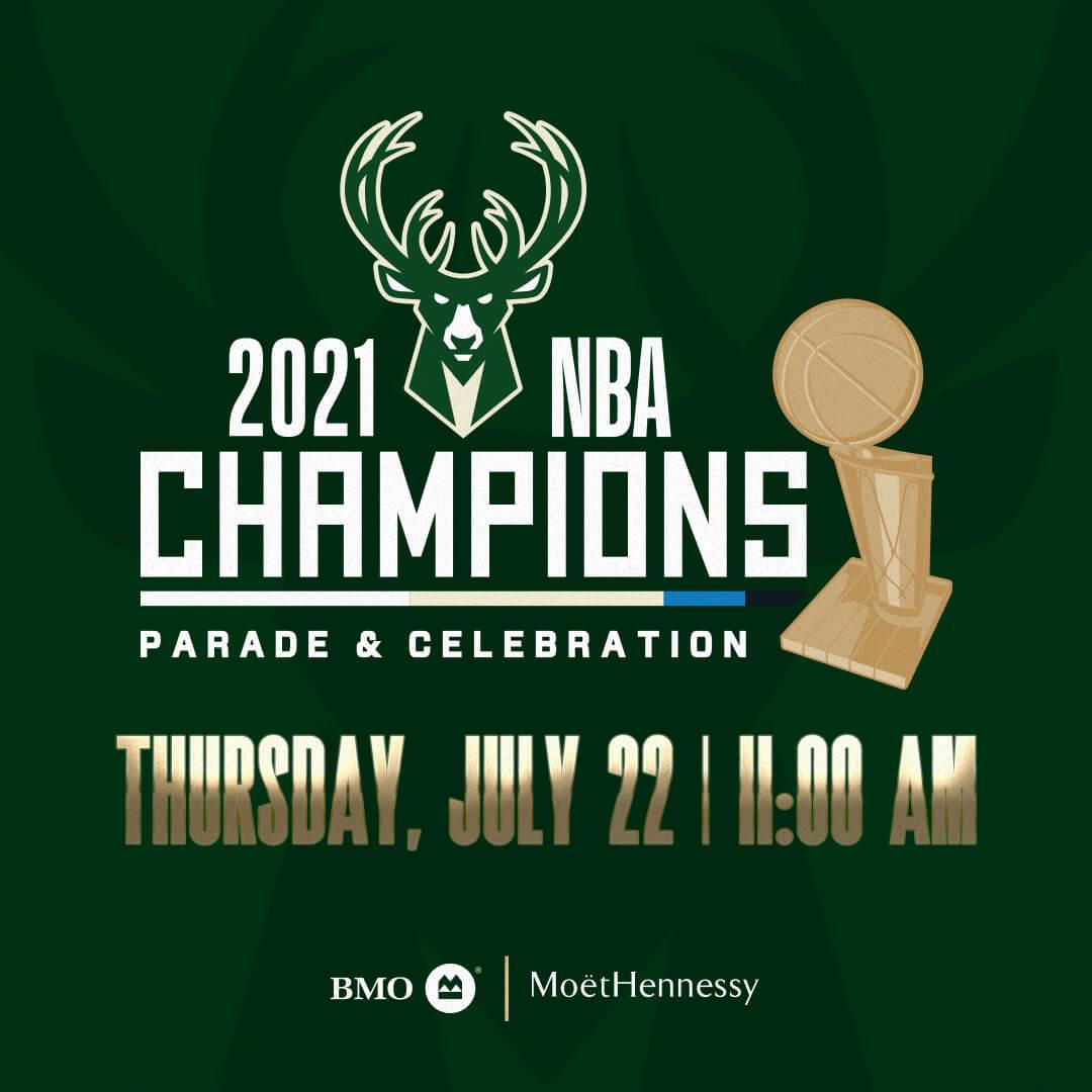 2021 NBA Champions Parade & Celebration | Thursday, July 22 | 11:00 AM CST